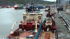 Canada Newfoundland St. John's 052 industrial ships berthed in harbor Arkistovideo