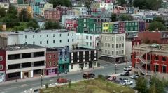 Canada Newfoundland St. John's 050 crossing in downtown at waterfront Stock Footage