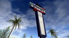 Retro american sign of a motel - stock illustration