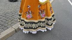 Slow Motion Oktoberfest Munich Beer Festival Lady dress costume Stock Footage