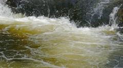 Kivach waterfall in Karelia, Russia, 4k Stock Footage