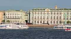 ST. PETERSBURG, RUSSIA - JUNE 29, 2015: The Winter Palace was the official Stock Footage