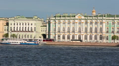 The Winter Palace was the official residence of the Russian monarchs, now the Stock Footage