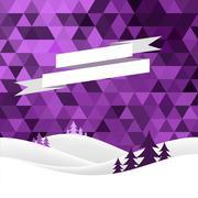 Christmas snow hills Stock Illustration