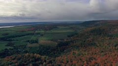 Aerial view of forest Park in fall with beautiful colours Stock Footage