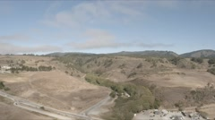 Aeria view of Highway 1 in Northern California Stock Footage