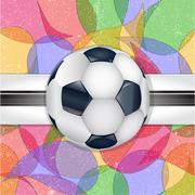 Abstract football background. - stock illustration
