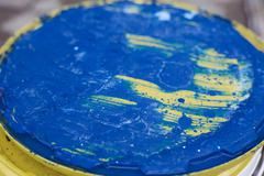 blue and yellow abstraction - stock photo