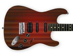 Old Sunburst Guitar Stock Illustration