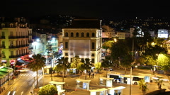 Cannes France Night Stock Footage