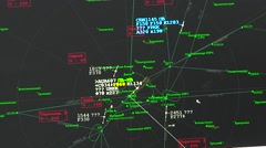 Plane of traffic control under Russia on radar Stock Footage