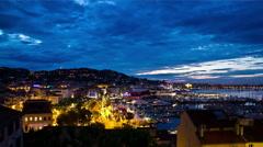 Cannes France Sunrise Stock Footage