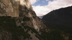 Yosemite National Park Aerial El Capitan Base Stock Footage