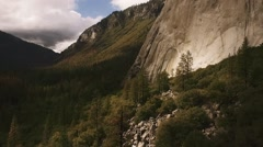 Yosemite National Park Aerial El Capitan Mountain Stock Footage
