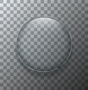 Vector modern transparent circle glass plate Stock Illustration