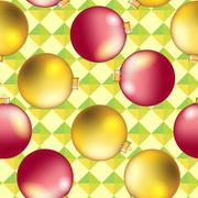 New Year pattern with Christmas ball. Sparkles and bokeh. Shiny and glowing Stock Illustration