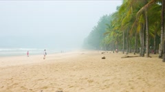 Indonesia fires causing smog in Thailand tourist islands - stock footage