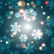 Stock Illustration of Snowflake Pattern. Snowflake vector texture. Christmas and new year concept