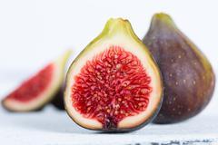 Ripe figs ready to eat - stock photo