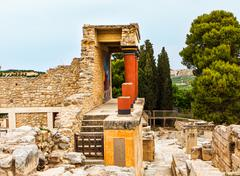 Knossos palace at Crete - stock photo