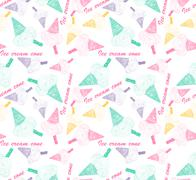 Stock Illustration of colorful ice cream cone