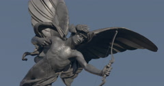 View of  Piccadilly Circus Eros Statue - stock footage