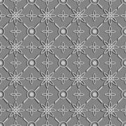 Stock Illustration of Seamless texture. Figure 3D - the structure of the atom.Color shades of gray.