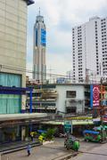 The tallest building in Bangkok, Baiyoke sky Stock Photos
