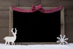 Christmas Blackboard, Red Loop, Reindeer,Copy Space, Snow Kuvituskuvat