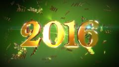 New Year 2016 Loopable Background 4K Stock Footage