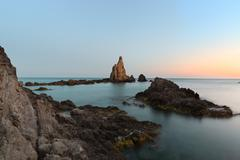 Seascape at Cabo del Gata, Almeria, Spain Stock Photos