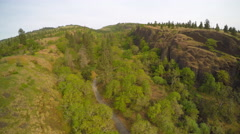 An aerial view of the rolling hills of the Pacific Northwest. Stock Footage