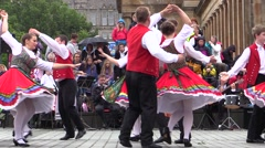 Traditional Bavarian Folk Dance. Germany Europe Stock Footage