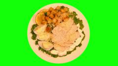 Stock Video Footage of 4k – Caesar salad on plate