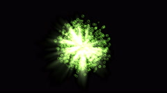 4k Abstract soap bubble gas light ray particle,bacteria spore microbes biology. Stock Footage