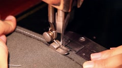 Antique sewing machine needle working Stock Footage