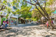 Busy street in Santa Marta, caribbean city, northern Colombia Kuvituskuvat