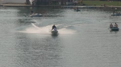 Lake jet ski 4K Stock Footage