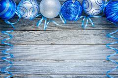 Border of Christmas Balls Stock Photos