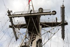 Telecommunication Tower of a Ship - stock photo