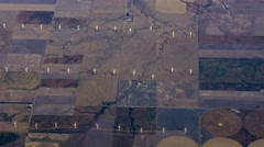 Aerial Midwest Wind Farm Windmills, 4K - stock footage