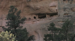 Slow zoom of an ancient rock dwelling in central Utah Stock Footage