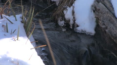 a high mountain stream sparkles in the sun light in central Utah - stock footage