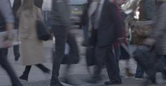 Stock Video Footage of 4k Anonymous Pedestrians Feet