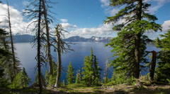 Crater Lake Stock Footage