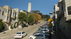 Telegraph Hill Establishing Shot with Coit Tower  	 Stock Footage