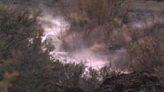 A natural thermal hot spring flowing in Central Utah Stock Footage