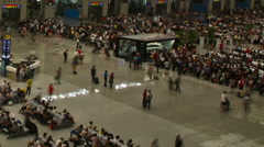 Busy Chinese subway Stock Footage