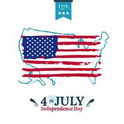 Fourth of July Independence illustration - stock illustration