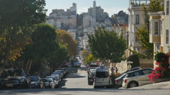 Typical San Francisco Street  	 Stock Footage